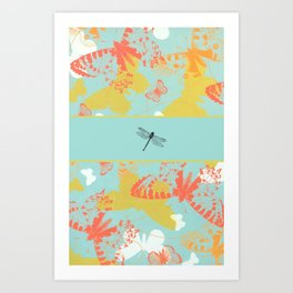 Dragonfly Band Art Print