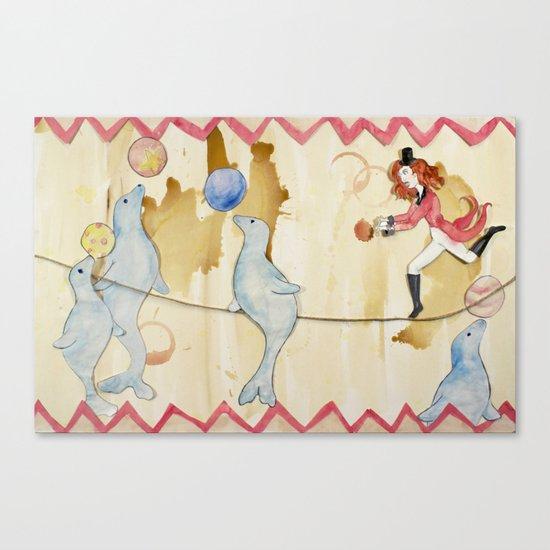 Circus: Seals Canvas Print