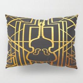 Art Deco Contrabass Pillow Sham