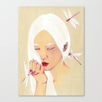 flawless Canvas Prints featuring Flawless by The White Deer