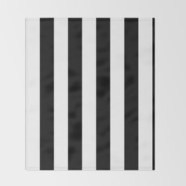 Black and White Stripes  Throw Blanket
