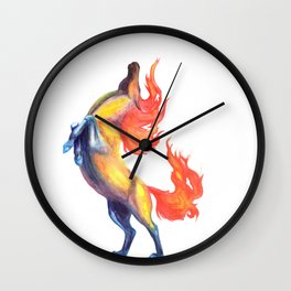 fire horse 2 Wall Clock
