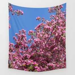 Spring blossoms pink Wall Tapestry