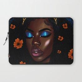 Pretty Brown Lady Laptop Sleeve