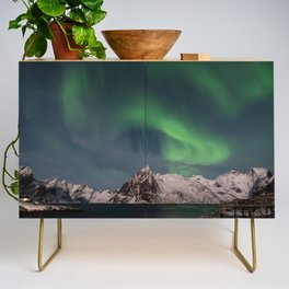 Northern Lights Over Lofoten Credenza