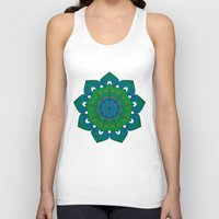 lotus Tank Tops featuring Lotus by Angelo Cerantola
