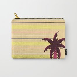 Palm tree and stripes Carry-All Pouch