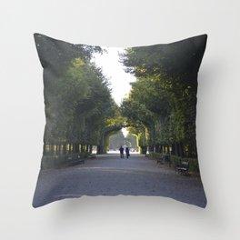 schönbrunn stroll Throw Pillow
