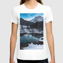 Zelenci springs at dusk T-shirt