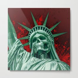 Liberty or Death Metal Print