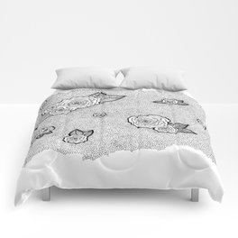 Dotted Floral Comforters