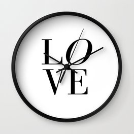 Love Quote LOVE SIGN Wall Art Printable Anniversary Gift For Him For Her Wall Quote Quote Print Art Wall Clock