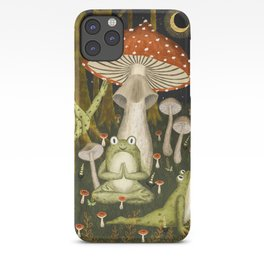 mushroom forest yoga iPhone Case