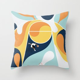 Basketball Playground | Bold Colors Abstract  Throw Pillow