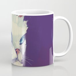 White Cat Coffee Mug