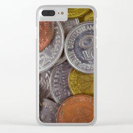 Germany - Deutschmark Old Coins Clear iPhone Case