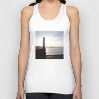 edinburgh Tank Tops featuring Leith Lighthouse Edinburgh by RMK Creative