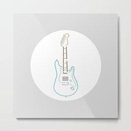 DeLonge signature Guitar Metal Print