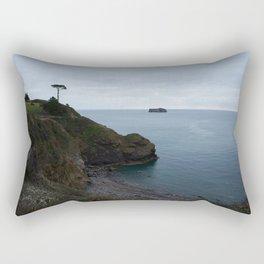 Single Tree At Thatcher Rock Point Rectangular Pillow