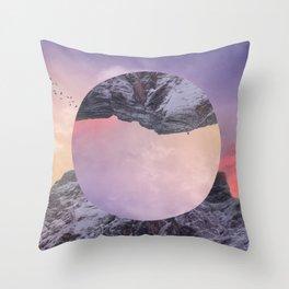 Inverted Mountain Throw Pillow