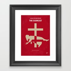 No666 My The Exorcist minimal movie poster Framed Art Print