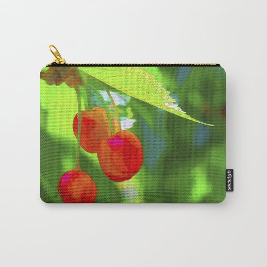 Red Cherries Painting Carry-All Pouch