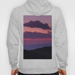 Purple sunset at the mountains... Hoody