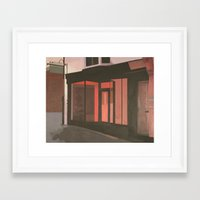 subway Framed Art Prints featuring Subway by Janet Wareing