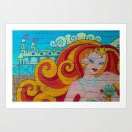 Lady Summer Art Print