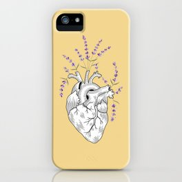 Mustard Lavender Human Heart iPhone Case