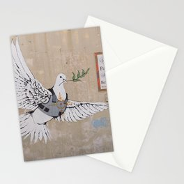 Armoured Dove street art on the West Bank wall | Travel photography Middle East Stationery Cards