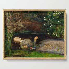 Ophelia - John Everett Millais Serving Tray