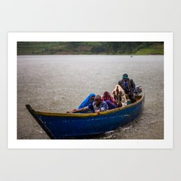 Downpour - Lake Bunyonyi, Uganda Art Print