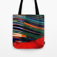 rave Tote Bags featuring Rave by Neelie