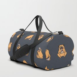 Pizza Yoga with The Pug Duffle Bag
