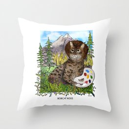 Bobcat Ross Throw Pillow