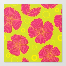Seamless pattern with flower Canvas Print