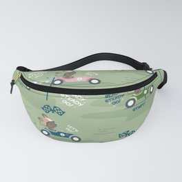Ready to race mouse pattern Fanny Pack
