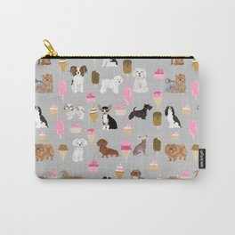 Small Dog Breeds with ice creams summer fun for the pet lover dog person in your life Carry-All Pouch