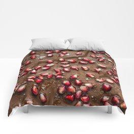 Chocolate Pomegranate Comforters