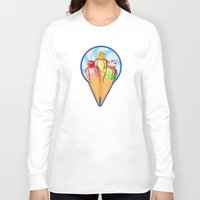 ice cream Long Sleeve T-shirts featuring Ice cream by LaDa