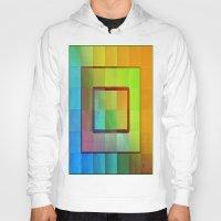 aperture Hoodies featuring Aperture #3 Vibrant Fractal Pleat Texture Design by CAP Artwork & Design