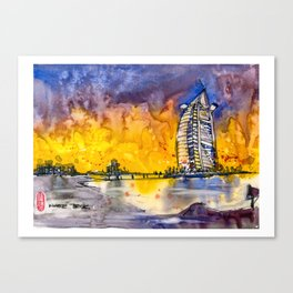 20161026 DUBAI Burj Al Arab Canvas Print