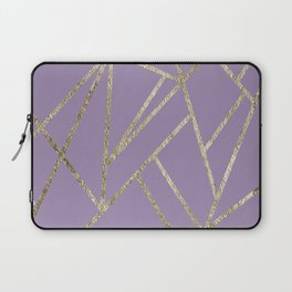 Classic Lavender Gold Geo #1 #geometric #decor #art #society6 Laptop Sleeve