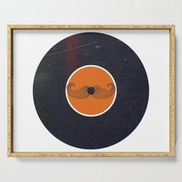 Vinyl Record Art Handlebar Mustache Serving Tray