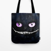 cheshire Tote Bags featuring CHESHIRE by Julien Kaltnecker