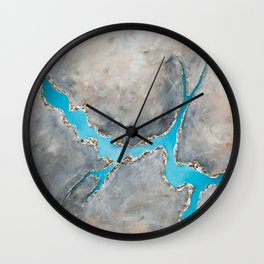 Sedimentary Topography Extended 2 Wall Clock