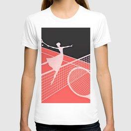"""""""Love – Tennis"""" Art Deco Design T-shirt"""
