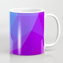 geometric triangle pattern blue purple Coffee Mug