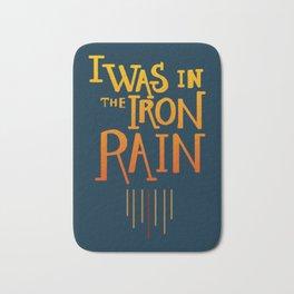 Iron rain Bath Mat